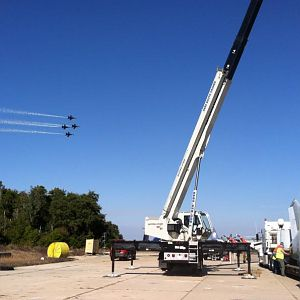 National Museum of Naval Aviation Loading A-7  Blue Angles landing