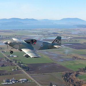 Photo by Kimberly Rehfeldt NOV 2015 over Skagit Valley, WA Lead plane: Citabria