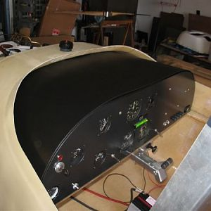Instrument panel built from scratch.