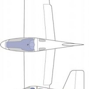 DS43.2.1 - November 2007  This is the first version of the flying-plank design that was competing with the swept-wing 43.1 design. This proved easie