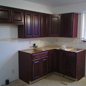 small kitchen- left side of kit. window -