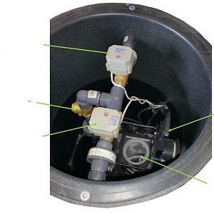 Electric Valve For Grey/Rain Water Collection And Irrigation System