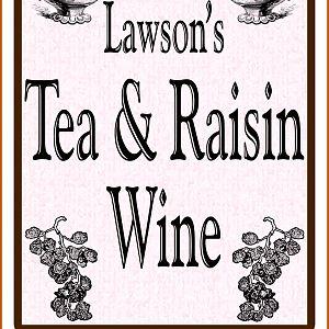 Tea & Raisin Wine Label