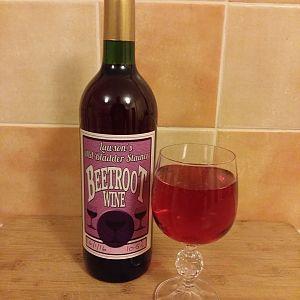 Beetroot Wine Bottled