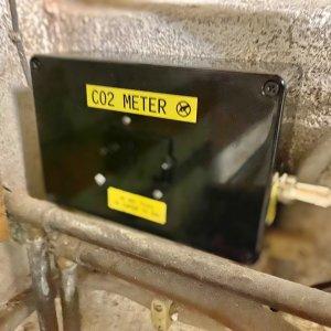 CO2 meter in cellar
