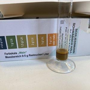 Measuring residual sugar level